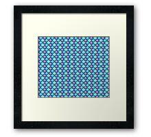 Little Mermaid Pattern Framed Print