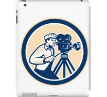 Cameraman Vintage Film Camera Circle Retro iPad Case/Skin