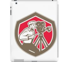 Cameraman Vintage Film Camera Shield Retro iPad Case/Skin