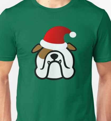 English Bulldog Santa Unisex T-Shirt