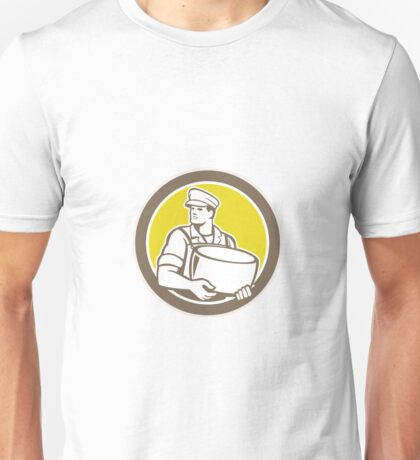Cheesemaker Holding Parmesan Cheese Circle Unisex T-Shirt