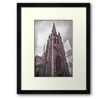 Trinity Church in Manhattan I Framed Print