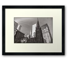 Trinity Church in Manhattan II Framed Print
