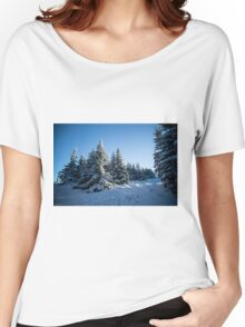 Snow Covered Trees/ Winter Fern Women's Relaxed Fit T-Shirt