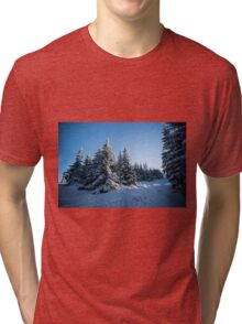 Snow Covered Trees/ Winter Fern Tri-blend T-Shirt