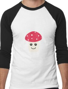 Cute red mushroom Men's Baseball ¾ T-Shirt