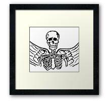 Even in Death Framed Print