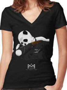 Pandab (ft panda panda panda) Women's Fitted V-Neck T-Shirt