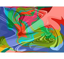 psychedelic hippy pattern Photographic Print