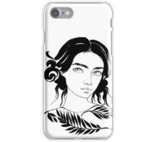 girl portrait water color iPhone Case/Skin