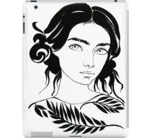 girl portrait water color iPad Case/Skin