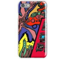 psychedelic building 60s inspired iPhone Case/Skin