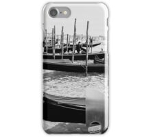 Gondolas waiting for customers iPhone Case/Skin