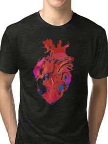 Warped heart Tri-blend T-Shirt