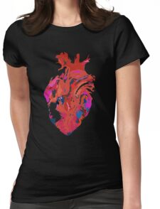 Warped heart Womens Fitted T-Shirt