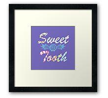 Blue Sweet Tooth Bat Framed Print