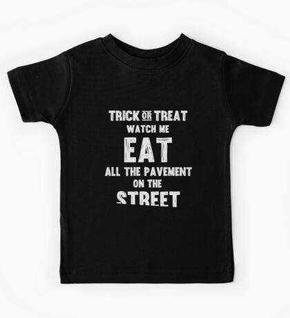 Trick or treating closer to the ground - white Kids Tee