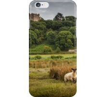 Sheep at Weobley castle iPhone Case/Skin
