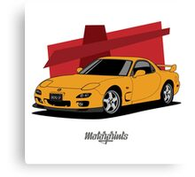 Mazda RX-7 (FD) (orange) Canvas Print