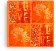Heartbeat orange Canvas Print