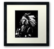 SHOUT AT (SIOUX) 2 Framed Print