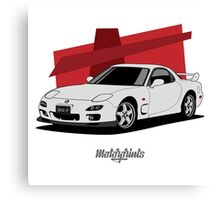 Mazda RX-7 (FD) (white) Canvas Print
