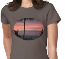 Maui Sunset Womens Fitted T-Shirt