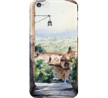 Between houses in Assisi Italy iPhone Case/Skin