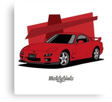 Mazda RX-7 (FD) (red) Canvas Print