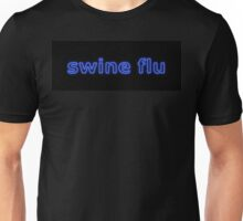 Swine Flu Blue Black Unisex T-Shirt