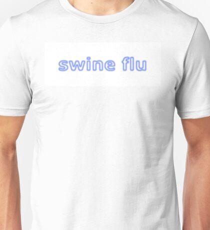 Swine Flu Blue White Unisex T-Shirt