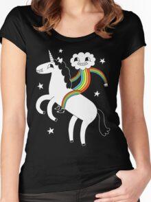 Unicorn & Rainbow Boy Women's Fitted Scoop T-Shirt