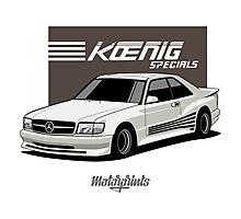 Koenig Mercedes-Benz 560 SEC (C126) (white) Photographic Print