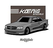 Koenig Mercedes-Benz 560 SEC (C126) (silver) Photographic Print