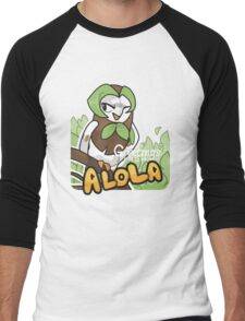 Greetings from Alola ft. Dartrix - Pokémon Sun and Moon Men's Baseball ¾ T-Shirt