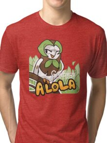 Greetings from Alola ft. Dartrix - Pokémon Sun and Moon Tri-blend T-Shirt