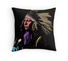 SHOUT AT (SIOUX) Throw Pillow