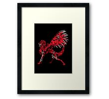 Flame Wolf - Black Framed Print