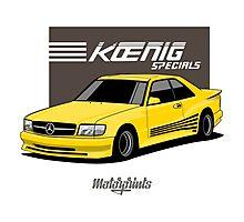 Koenig Mercedes-Benz 560 SEC (C126) (yellow) Photographic Print
