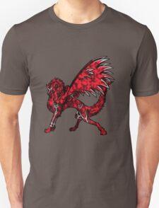 Flame Wolf - Black T-Shirt