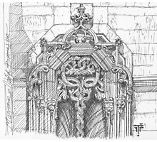 Batalha Monastery window. freehand sketch Photographic Print