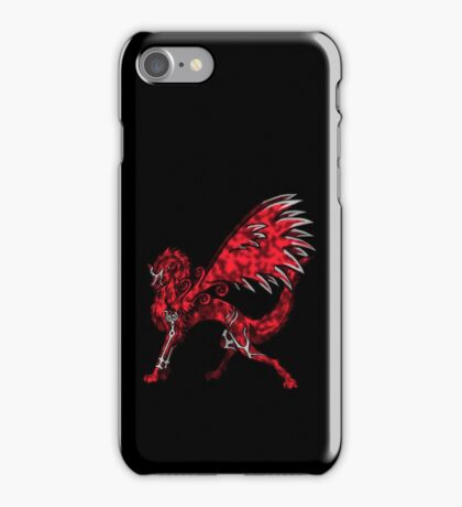 Flame Wolf - Black iPhone Case/Skin