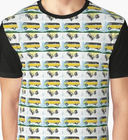 Flying Bus Graphic T-Shirt