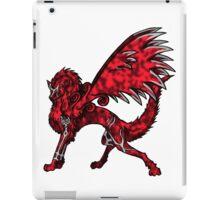 Flame Wolf - White iPad Case/Skin