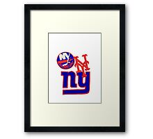 new york teams Framed Print