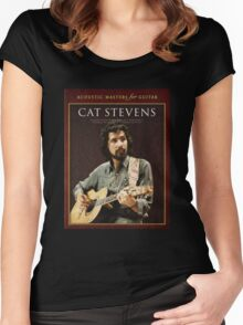 cat stevens-acoustic master for guitar 2016 Women's Fitted Scoop T-Shirt