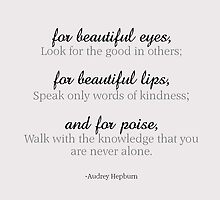 Audrey Hepburn Quote by Louisa94