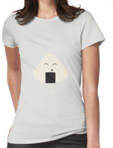 Cute onigiri rice face Womens Fitted T-Shirt