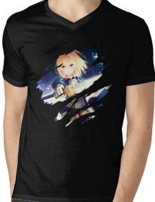Saber Anime Manga Shirt Mens V-Neck T-Shirt