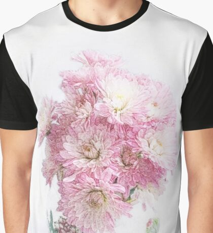 Pretty Pink Mums Still Life Graphic T-Shirt